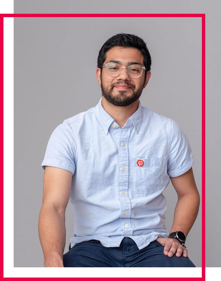 Pictured here is Steven from cohort 5 in SF, who's currently a Software Engineer at Pinterest