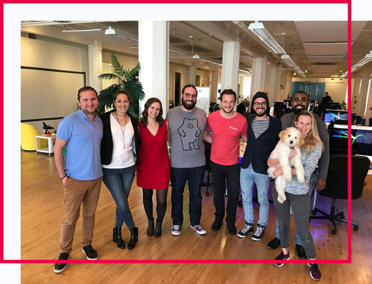 Pictured is a portion of our Holberton team in one of our previous locations